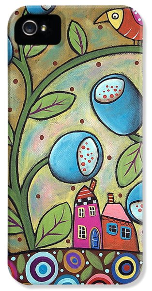 House Art iPhone 5 Cases - Tulip Town iPhone 5 Case by Karla Gerard