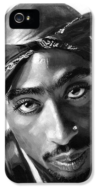 Hip Hop iPhone 5 Cases - Tupac Shakur iPhone 5 Case by Ylli Haruni