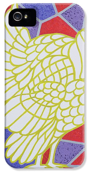 Turkey On Stained Glass IPhone 5 / 5s Case by Pat Scott