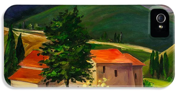 Ill iPhone 5 Cases - Tuscan hills iPhone 5 Case by Elise Palmigiani