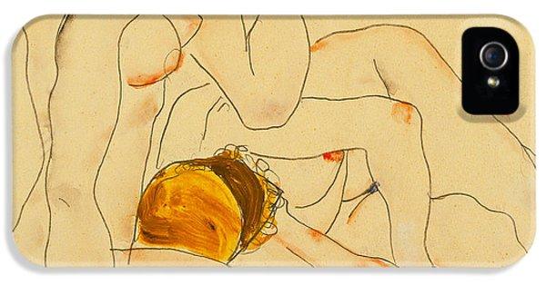 Two Friends IPhone 5 / 5s Case by Egon Schiele