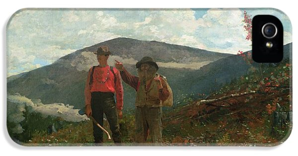 Homer iPhone 5 Cases - Two Guides iPhone 5 Case by Winslow Homer