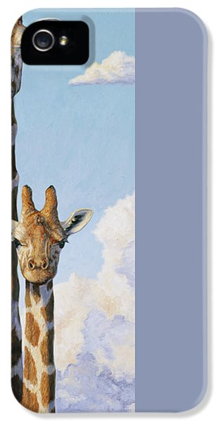 Two Heads In The Clouds IPhone 5 / 5s Case by Lucie Bilodeau