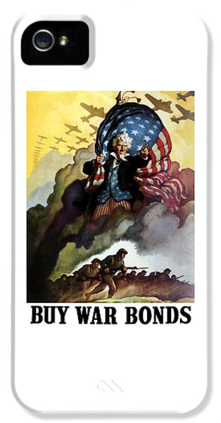 Us Flag iPhone 5 Cases - Uncle Sam Buy War Bonds iPhone 5 Case by War Is Hell Store