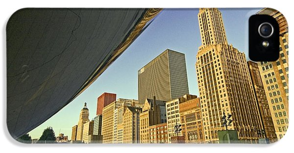 Michgan Avenue iPhone 5 Cases - Under the Bean and Chicago skyline iPhone 5 Case by Sven Brogren