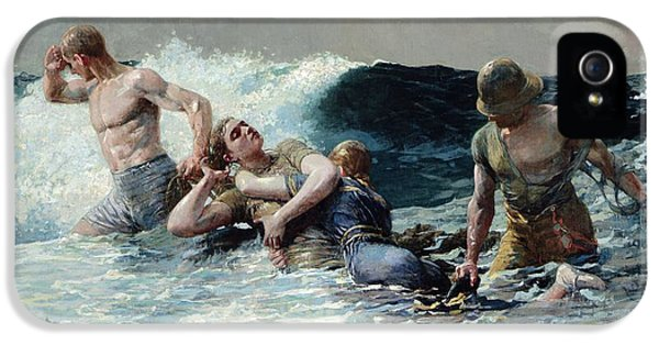 Homer iPhone 5 Cases - Undertow iPhone 5 Case by Winslow Homer
