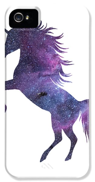 Unicorn In Space-transparent Background IPhone 5 / 5s Case by Jacob Kuch