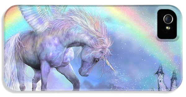 Unicorn Of The Rainbow IPhone 5 / 5s Case by Carol Cavalaris