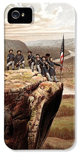 Us Flag iPhone 5 Cases - Union Soldiers On Lookout Mountain iPhone 5 Case by War Is Hell Store