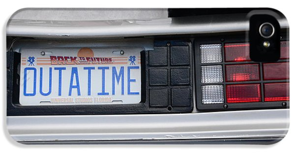 Michael J Fox iPhone 5 Cases - Outatime Plates iPhone 5 Case by Luke Pickard