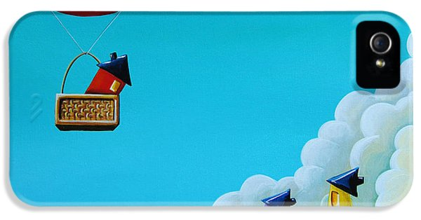 Balloon iPhone 5 Cases - Up Up and Away iPhone 5 Case by Cindy Thornton