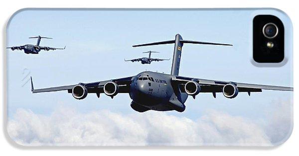 Strategic iPhone 5 Cases - U.s. Air Force C-17 Globemasters iPhone 5 Case by Stocktrek Images