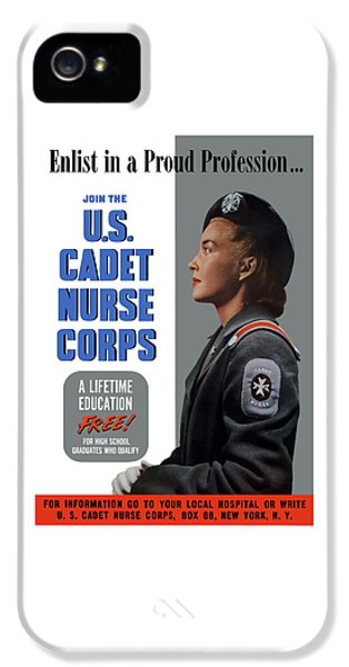 Medical iPhone 5 Cases - US Cadet Nurse Corps iPhone 5 Case by War Is Hell Store
