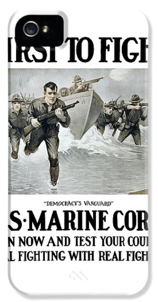 Us Marine Corps - First To Fight  IPhone 5 / 5s Case by War Is Hell Store