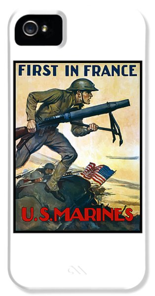 Marine Corps iPhone 5 Cases - US Marines - First In France iPhone 5 Case by War Is Hell Store