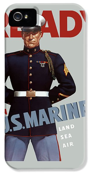 Us Marines - Ready IPhone 5 / 5s Case by War Is Hell Store