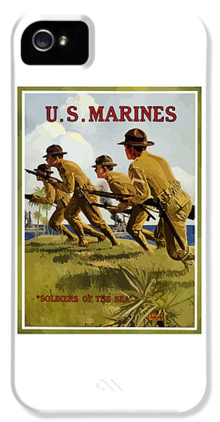 Marine Corps iPhone 5 Cases - US Marines - Soldiers Of The Sea iPhone 5 Case by War Is Hell Store