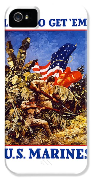Us Marines - Ww2  IPhone 5 / 5s Case by War Is Hell Store