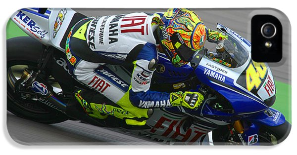 Casey iPhone 5 Cases - Valentino Rossi iPhone 5 Case by Henk Meijer Photography