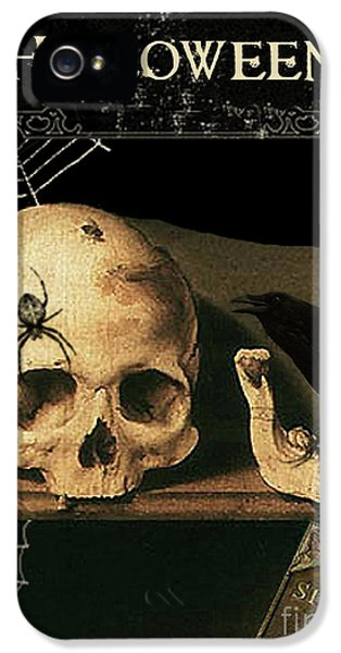 Vanitas Skull And Raven IPhone 5 / 5s Case by Striped Stockings Studio
