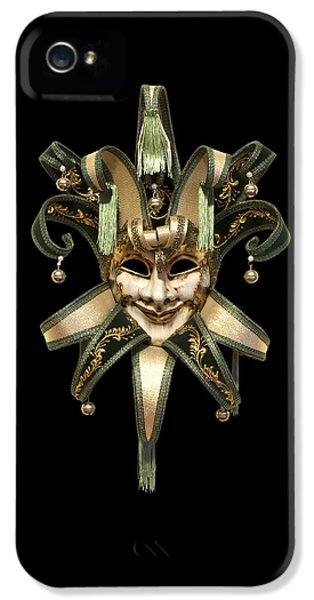 Cut-out iPhone 5 Cases - Venetian mask iPhone 5 Case by Fabrizio Troiani