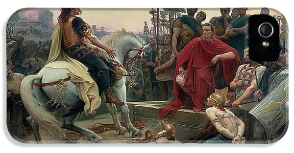 Vercingetorix Throws Down His Arms At The Feet Of Julius Caesar IPhone 5 / 5s Case by Lionel Noel Royer