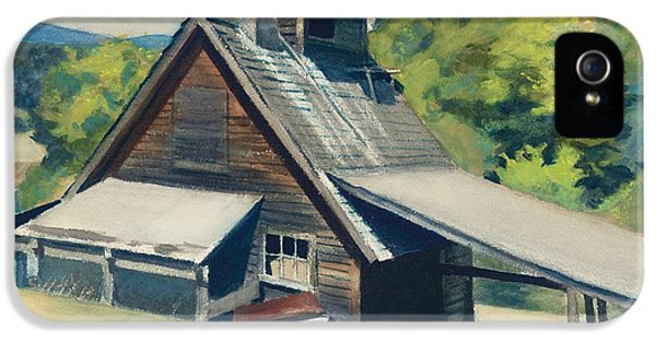 Vermont Sugar House IPhone 5 / 5s Case by Edward Hopper