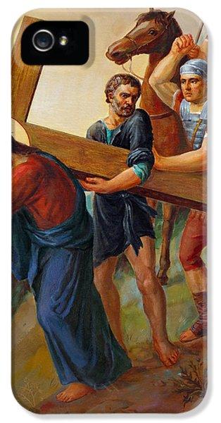 Holy Spirit iPhone 5 Cases - Via Dolorosa. Stations Of The Cross. 5 iPhone 5 Case by Svitozar Nenyuk