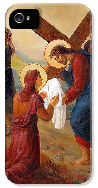 Via Dolorosa - Veil Of Saint Veronica - 6 IPhone 5 / 5s Case by Svitozar Nenyuk