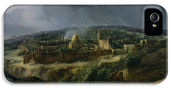 View Of Jerusalem From The Valley Of Jehoshaphat IPhone 5 / 5s Case by Auguste Forbin