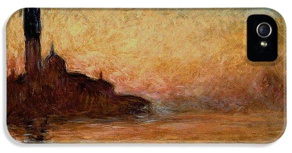 View Of San Giorgio Maggiore IPhone 5 / 5s Case by Claude Monet