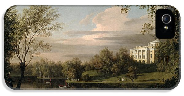 Oil House iPhone 5 Cases - View of the Pavlovsk Palace iPhone 5 Case by Carl Ferdinand von Kugelgen