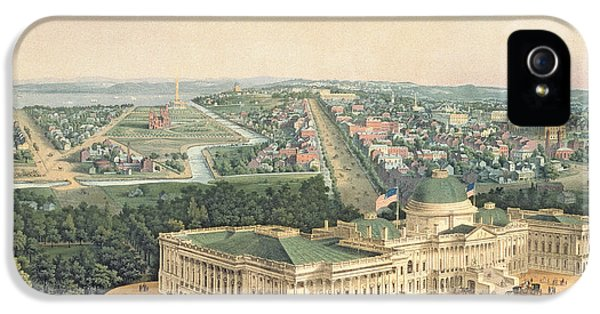 View Of Washington Dc IPhone 5 / 5s Case by Edward Sachse