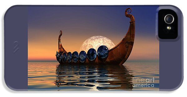 Ancient iPhone 5 Cases - Viking Boat iPhone 5 Case by Corey Ford