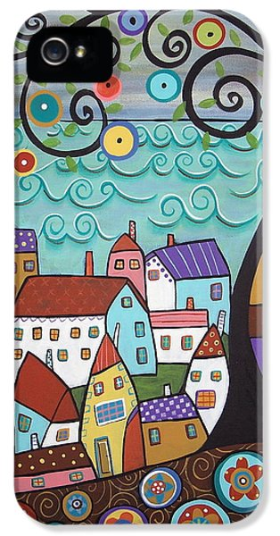 Abstract Canvas iPhone 5 Cases - Village By The Sea iPhone 5 Case by Karla Gerard