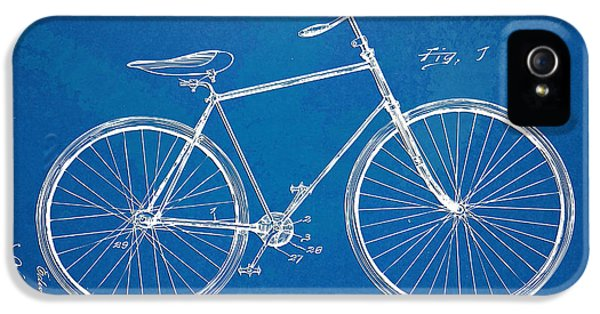 Blueprint iPhone 5 Cases - Vintage Bicycle Patent Artwork 1894 iPhone 5 Case by Nikki Marie Smith