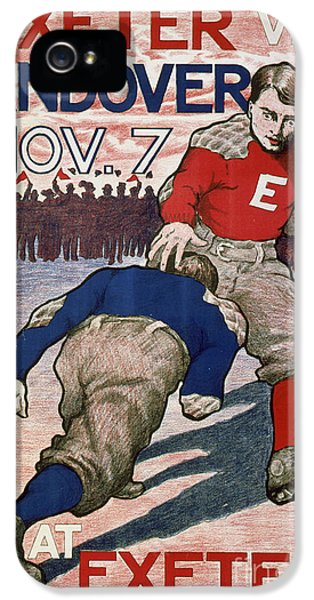 Vintage College Football Exeter Andover IPhone 5 / 5s Case by Edward Fielding
