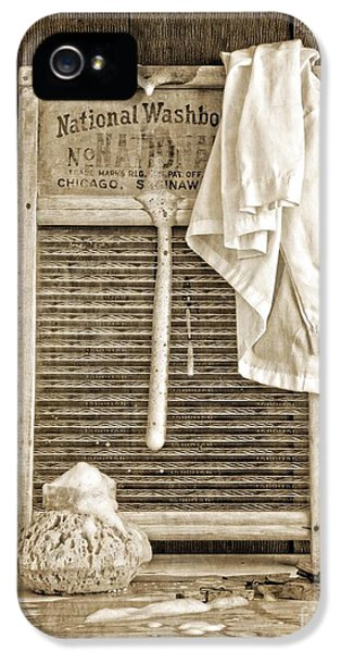 Washed iPhone 5 Cases - Vintage Laundry Room iPhone 5 Case by Edward Fielding