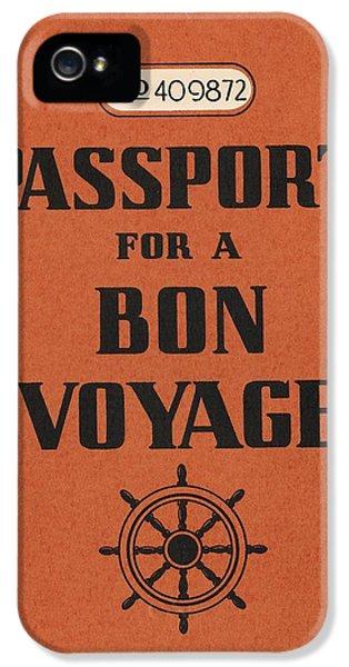1930s iPhone 5 Cases - Vintage Passport iPhone 5 Case by Gillham Studios