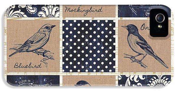 Vintage Songbird Patch 2 IPhone 5 / 5s Case by Debbie DeWitt