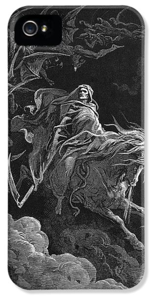 Grim Reaper iPhone 5 Cases - Vision Of Death iPhone 5 Case by Granger
