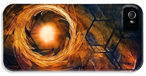 Vortex Of Fire IPhone 5 / 5s Case by Scott Norris