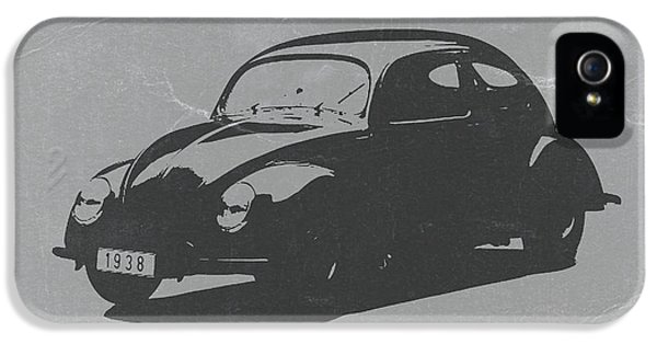 German Classic Cars iPhone 5 Cases - VW Beetle iPhone 5 Case by Naxart Studio
