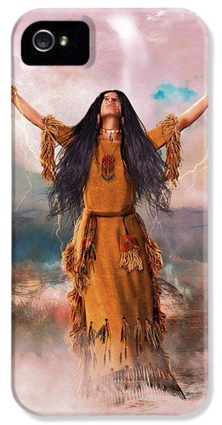 First Nations iPhone 5 Cases - Wakan Tanka The Great Spirit iPhone 5 Case by Shanina Conway