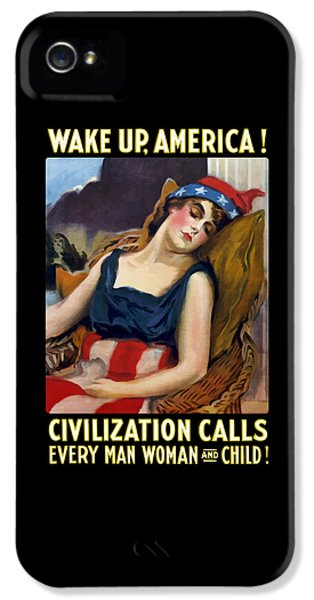 Wake Up America - Civilization Calls IPhone 5 / 5s Case by War Is Hell Store