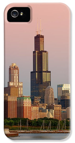 Lake iPhone 5 Cases - Wake Up Chicago iPhone 5 Case by Sebastian Musial