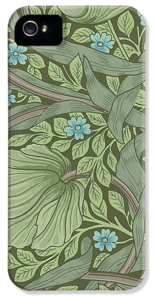 Arts And Crafts Movement iPhone 5 Cases - Wallpaper Sample with Forget-Me-Nots iPhone 5 Case by William Morris
