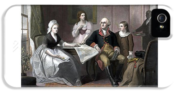 Washington And His Family IPhone 5 / 5s Case by War Is Hell Store