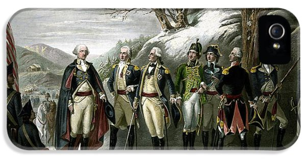 July 4th iPhone 5 Cases - Washington and His Generals  iPhone 5 Case by War Is Hell Store