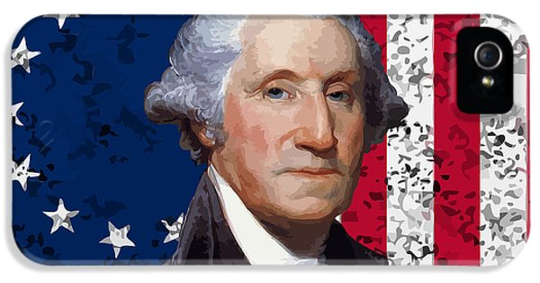 Washington And The American Flag IPhone 5 / 5s Case by War Is Hell Store